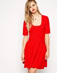 Asos Skater Dress In Structured Knit