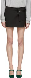 Alyx Black Wool Miniskirt