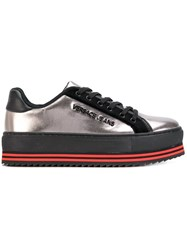 Versace Jeans Platform Lace Up Sneakers Grey