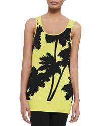 Berek Miami Print Long Tank Plus Size Kiwi