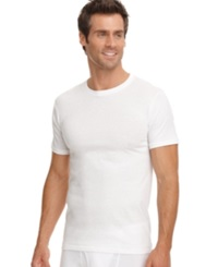 Jockey Men's Big And Tall Classic Crew T Shirts 2 Pack White