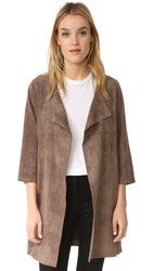 And B Marlo Faux Suede Jacket Taupe