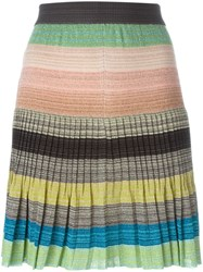 Missoni Striped Knit Skirt Green