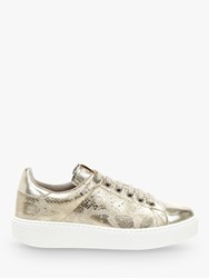 Victoria Shoes Utopia Lace Up Trainers Gold