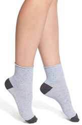 Women's Lemon 'Summer Speckle' Roll Top Crew Socks