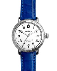 Runwell Coin Edge Watch With Blue Alligator Strap 41Mm Shinola
