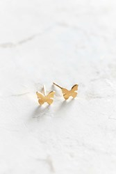 Seoul Little 24K Gold Plated Butterfly Post Earring