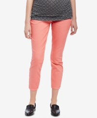 Motherhood Maternity Cropped Pants Coral Fizz