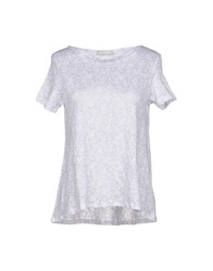 Stefanel T Shirts Light Grey