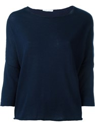 Societe Anonyme Batwing Sleeve Jumper Blue