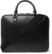Montblanc Sartorial Cross Grain Leather Briefcase Black