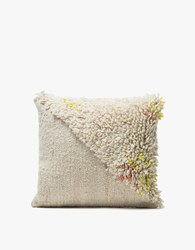 Minna Split Shag Pillow 16X16 White
