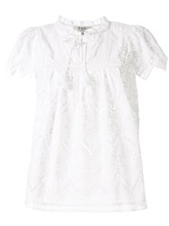 Sea Broderie Anglaise Cotton Blouse 60