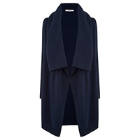 Oasis Drape Tweed Cardigan Navy