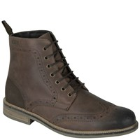 Barbour Men's Belsay Derby Brogue Boots Dark Tan