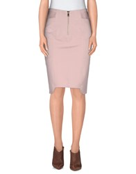 Uniqueness Skirts Knee Length Skirts Women Pink