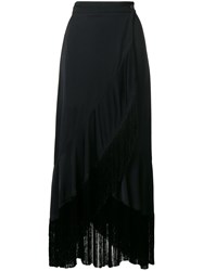 Twin Set Fringed Hem Skirt Black
