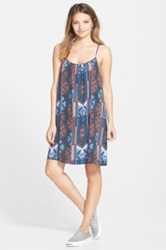Sun And Shadow Print Trapeze Dress Juniors Multi