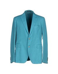 Tagliatore Suits And Jackets Blazers Men Turquoise