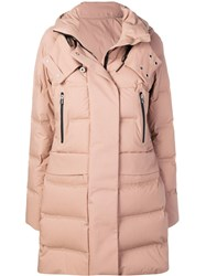 Peuterey Hooded Quilted Coat Neutrals
