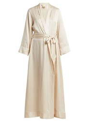 Morpho Luna Jade Silk Robe Cream
