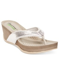 Bare Traps Gammie Wedge Sandals Women's Shoes Silver