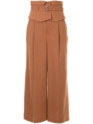 Loveless Wide Leg Trousers Brown