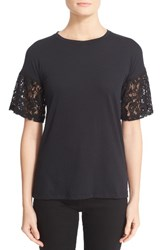 Burberry Women's Lace Puff Sleeve Tee