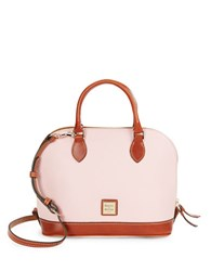 Dooney And Bourke Zip Zip Pebbled Leather Satchel Blush