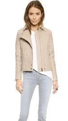 J Brand Ready To Wear Lais Leather Jacket Stone