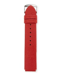 Philip Stein Teslar 20Mm Lizard Watch Strap Red