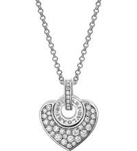 Bulgari Bvlgari Bvlgari Cuore 18Kt White Gold And Pave Diamond Necklace