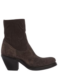Rocco P. 40Mm Elastic And Suede Cowboy Boots