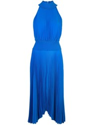 A.L.C. Halter Neck Pleated Dress Blue