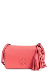 Tory Burch 'Mini Thea' Crossbody Bag Coral Spiced Coral
