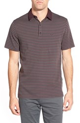 Ag Jeans Men's Ag 'Pico' Stripe Pima Cotton Polo Deep Purple