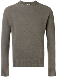 Tom Ford Knit Crew Neck Sweater Grey