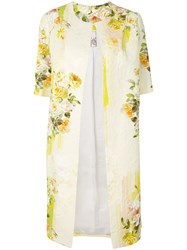 Antonio Marras Shortsleeved Floral Coat Yellow And Orange
