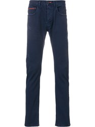 Frankie Morello Skinny Trousers Blue