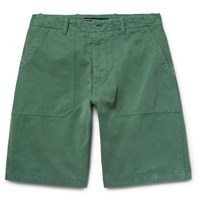 The Workers Club Garment Dyed Cotton Twill Chino Shorts Green