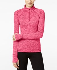 Ideology Essential Half Zip Performance Pullover Only At Macy's Molten Pink