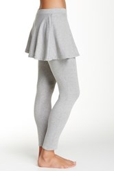 Magid Flared Skirt Overlay Legging Gray