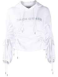 Each X Other Hooded Sweater White