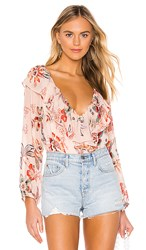 Sanctuary Lady Like Blouse In Tan. Desert Floral