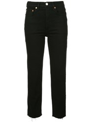 Re Done Straight Cropped Jeans Black