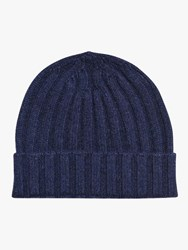 Oscar Jacobson Knitted Wool Hat Blue