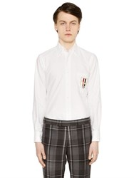 Thom Browne Dog Crest Patch Oxford Cotton Shirt