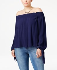 American Rag Trendy Plus Size Off The Shoulder Top Only At Macy's Eclipse