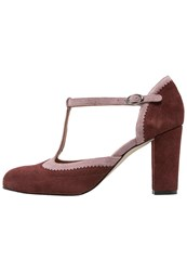 Mintandberry Classic Heels Red Mauve Wine