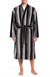 Majestic International Men's Remarkavelour Robe Black